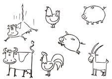 Clipart simple de los animales del campo ilustración del vector