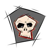 Skull in sketchy style. Clipart of a skull in sketchy style stock illustration