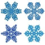 clipart snowflakes Στοκ Εικόνες