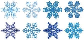 clipart snowflakes Στοκ Φωτογραφία