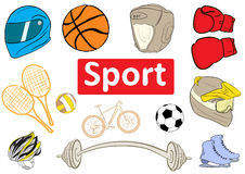 Clipart sports attributes Royalty Free Stock Image