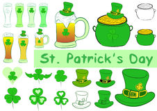 Clipart of a St. Patrick's Day Stock Photos