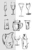 clipart szkieł przedmiotów serie Obraz Royalty Free
