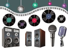 Clipart to music subjects Royalty Free Stock Photos