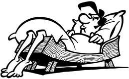 Clipart troppo piccolo di vettore del fumetto del letto Fotografia Stock