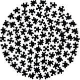 Clipart van een cirkel van puzzelstukken Stock Fotografie