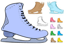 Clipart with the various skates Stock Photo