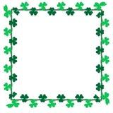 Clipart verde do trevo da folha para a decoração do cartão, do fundo e do contexto Fotos de Stock