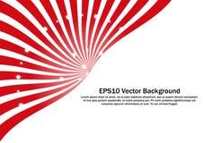 Clipart vermelho e branco abstrato para a bandeira, o papel de parede do contexto e a decoração Imagem de Stock