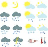 Clipart for weather icons royalty free illustration