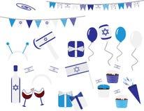 Cliparts för självständighetsdagen för Israel ` s Stock Illustrationer