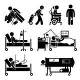 Cliparts-Ikonen Ausrüstungen der lebenserhaltenden Maßnahmen stock abbildung