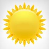 Clipartvektor der glühenden Sonne lokalisiert Lizenzfreies Stockbild