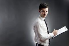 clipboard бизнесмена Стоковые Изображения RF