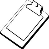 Clipboard. Illustration of a clipboard with papers royalty free illustration