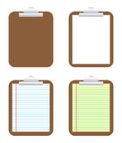 Clipboard. Illustration of clipboard on white background Stock Photos