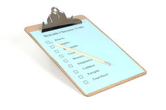 Clipboard #2. Clipboard with checklist and pencil isolated on a white background Royalty Free Stock Photos