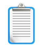 Clipboard. With strip line isolated on white background Royalty Free Stock Photo