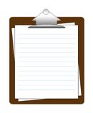 Clipboard. Isolated on white background Royalty Free Stock Photo