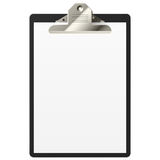 Clipboard. Vector illustration of a clipboard with blank paper Stock Images