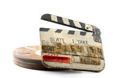 Clipboard And Cinema Weel Box Stock Photo