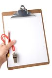 Clipboard And Whistle Stock Image