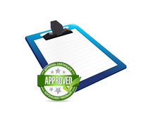 Clipboard and approve seal illustration Royalty Free Stock Photo