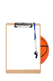 Clipboard and basketball Royalty Free Stock Image