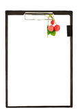Clipboard with berries Royalty Free Stock Photos