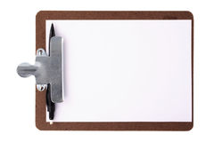 Clipboard and black mechanical pencil Stock Photography
