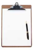 Clipboard and blank paper Stock Image
