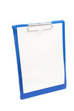 Clipboard with Blank Paper Stock Photos