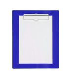 Clipboard with blank paper isolated on white Stock Photos