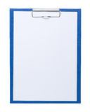 Clipboard with blank sheet Stock Image