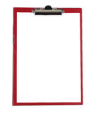 Clipboard with blank white paper Royalty Free Stock Photo