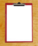 Clipboard with blank white paper Royalty Free Stock Image