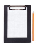 Clipboard with blank white piece of paper Stock Photography