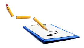 Clipboard and Broken Pencil Royalty Free Stock Image