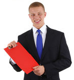 Clipboard businessman Stock Images