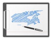 Clipboard Canada map Stock Photos