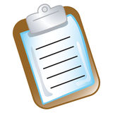 Clipboard chart icon Stock Image