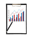 Clipboard with chart Stock Photos