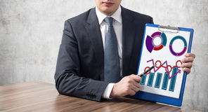 Clipboard with charts Stock Image