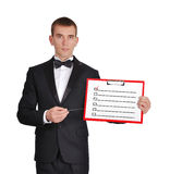 Clipboard with check box Stock Photography
