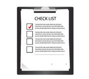 Clipboard with check list. Stock Image