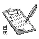 Clipboard With Check List Stock Image