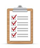 Clipboard and checklist Royalty Free Stock Image