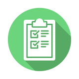 Clipboard checklist flat icon Royalty Free Stock Image