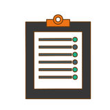 clipboard with checklist icon image Stock Photography