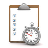 Checklist Stopwatch Royalty Free Stock Photos
